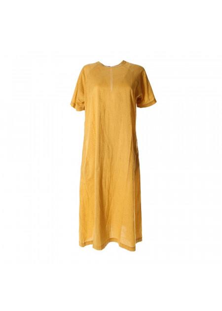 WOMEN'S CLOTHING DRESS YELLOW BASILICO