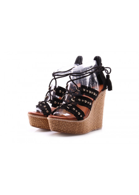 WOMEN'S SHOES WEDGES BLACK EXE'