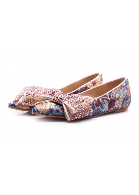 WOMEN'S SHOES FLAT SHOES MULTICOLOR RAS