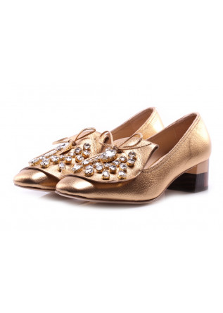 SHOES PUMPS GOLD RAS