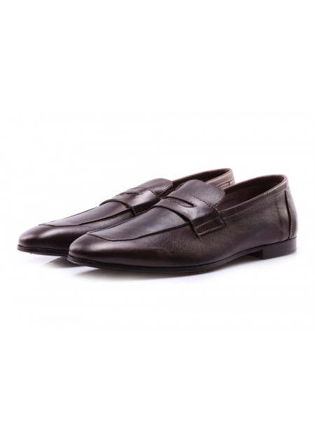 SCARPE UOMO SCARPE BASSE MARRONE SLIP-ON J.P. DAVID