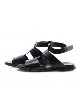 WOMEN'S SHOES SANDALS BLACK MATT POESIE VENEZIANE