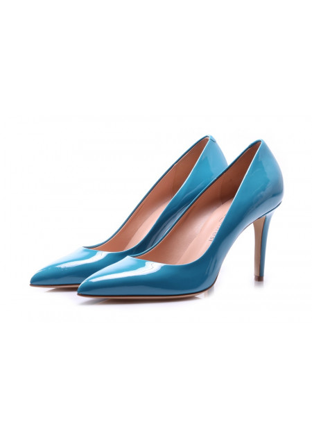 WOMEN'S SHOES PUMPS LIGHT BLUE SERGIO LEVANTESI