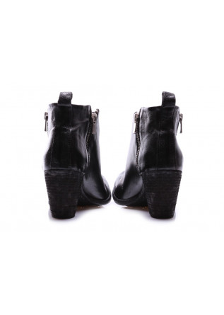 WOMEN'S SHOES BOOTS BLACK DOUBLE ZIP OFFICINE CREATIVE