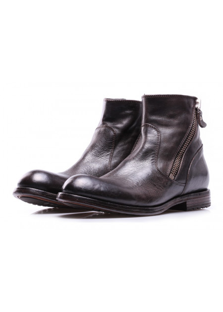 WOMEN'S SHOES BOOTS BROWN ZIP MOMA