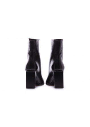 WOMEN'S SHOES BOOTS DIAGONAL ZIP BLACK HALMANERA