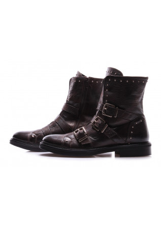 WOMEN'S SHOES BOOTS BROWN BUCKLES MANOVIA 52