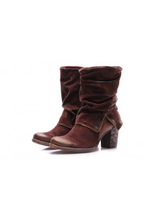 WOMEN'S SHOES BOOTS BROWN PAPUCEI