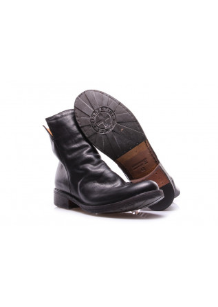 MEN'S SHOES ANKLE BOOTS IN LEATHER WITH ZIP BLACK FIORENTINI + BAKER