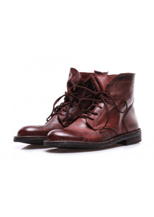 WOMEN'S SHOES BOOTS BROWN LACE-UP MANOVIA 52