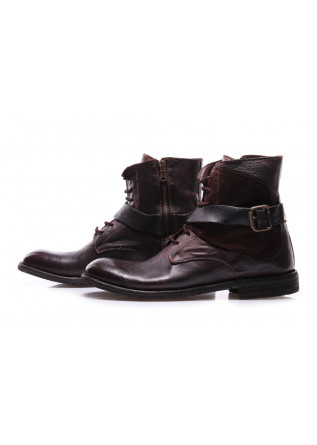 MEN'S SHOES LACE-UP BROWN BUCKLE MANOVIA 52