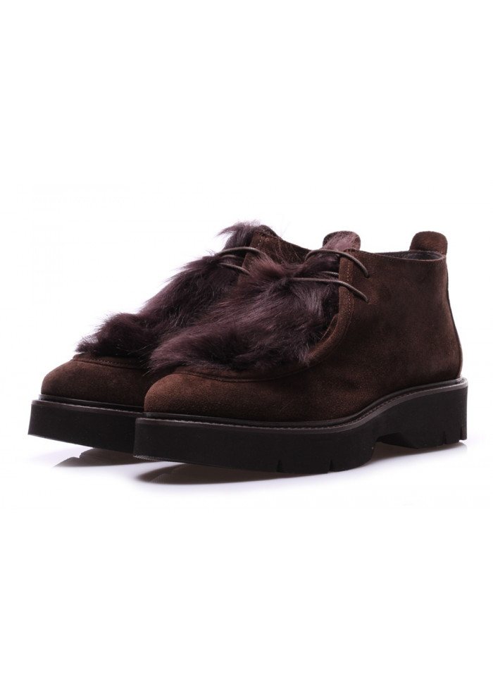 WOMEN'S SHOES LACE-UP BROWN MANOVIA 52