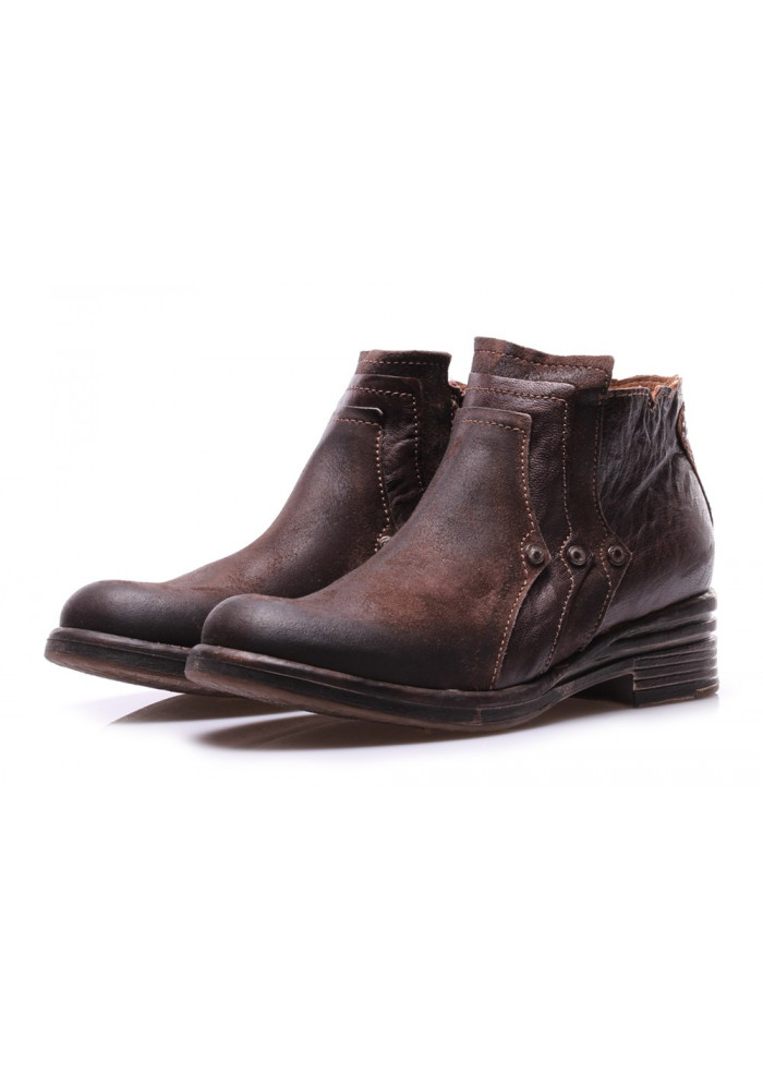 WOMEN'S SHOES BOOTS BROWN STUDS CLOCHARME / CHARME ROUTARD