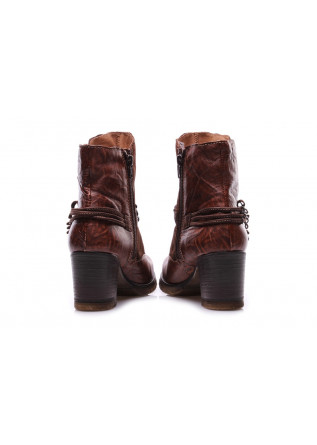 WOMEN'S SHOES BOOTS BROWN LATERAL ZIP CLOCHARME / CHARME ROUTARD