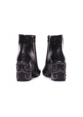 WOMEN'S SHOES BOOTS STUDS BLACK LATERAL ZIP POESIE VENEZIANE