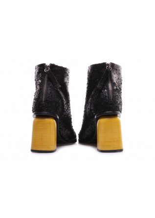 WOMEN'S SHOES BOOTS BLACK YELLOW HEEL HALMANERA