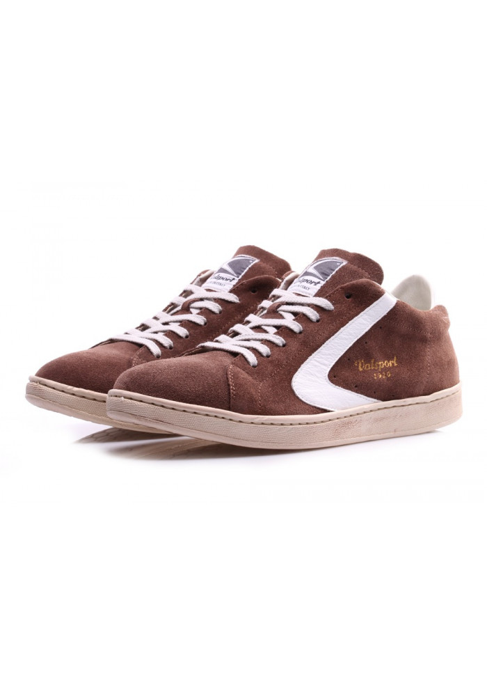 MEN'S SHOES SNEAKERS BROWN/WHITE SUEDE VALSPORT