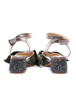 WOMEN'S SHOES SANDALS SILVER POESIE VENEZIANE