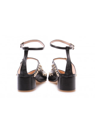 WOMEN'S SHOES SANDALS BLACK SABOT RAS