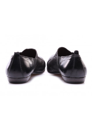 WOMEN'S SHOES FLAT SHOES BLACK SHINY MOMA