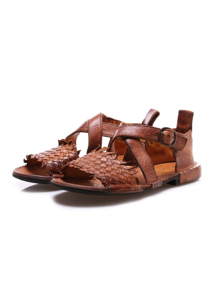 WOMEN'S SHOES SANDALS BROWN CUOIO MANOVIA 52