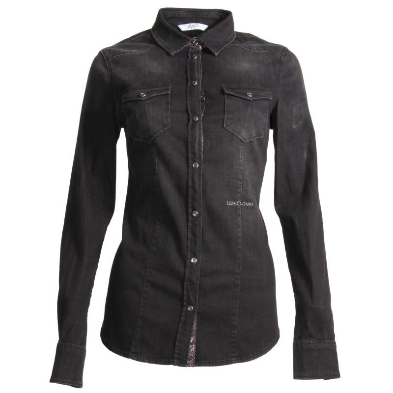 Camicia Manica Lunga Abbigliamento Donna Liu Jo Nero