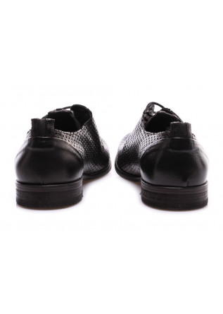 MEN'S SHOES LACE-UP BLACK PERFORATED MANOVIA 52