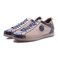 SCARPE UOMO SNEAKERS BLU CLOCHARME / CHARME ROUTARD