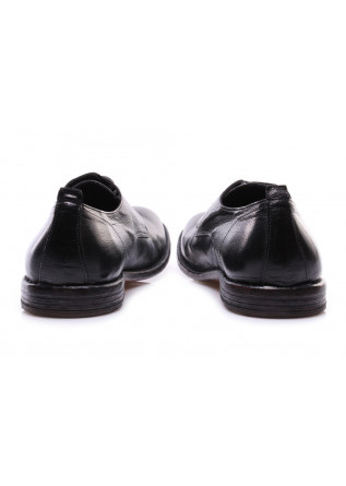 MEN'S SHOES LACE-UP LEATHER BLACK MOMA