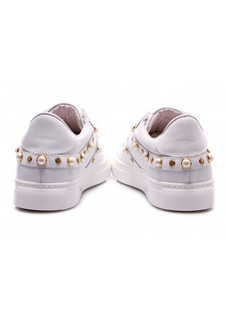 WOMEN'S SHOES SNEAKERS WHITE STUDS STOKTON