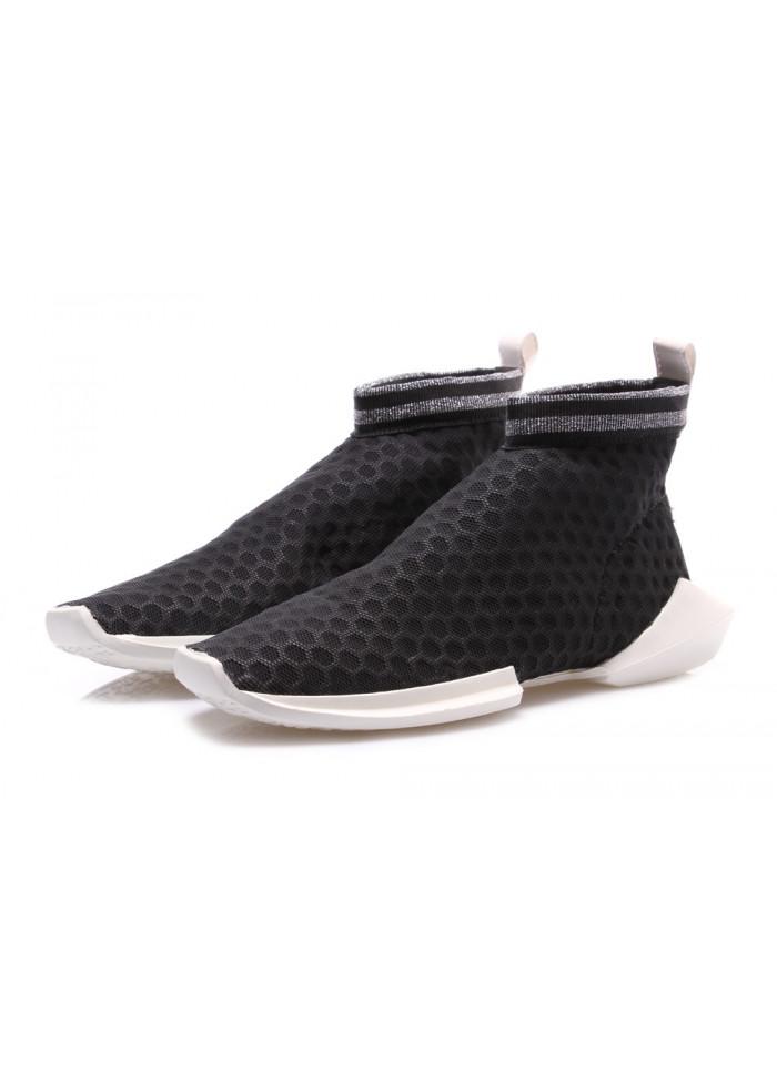 separation shoes 3d924 a07ed DAMENSCHUHE FLACHE SCHUHE SCHWARZ SILBER BOOMY