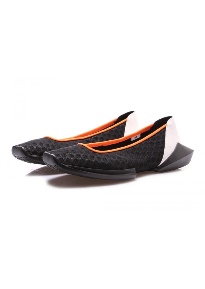 Schuhe schwarz flach