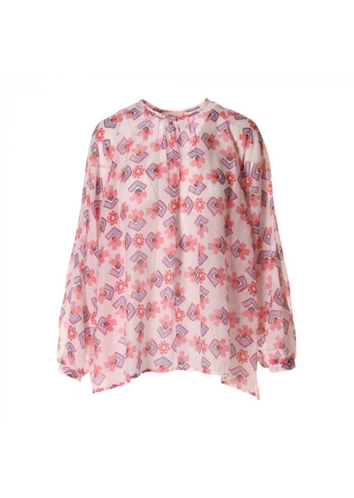 03f9121f WOMEN'S CLOTHING SHIRT ROSE / WHITE OTTOD'AME