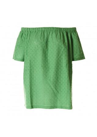 WOMEN'S CLOTHING SHIRT GREEN AU PETIT BONHEUR