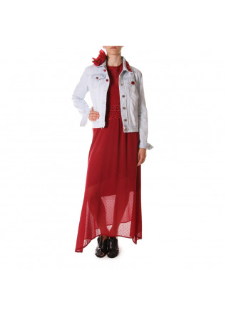 WOMEN'S CLOTHING JACKETS LIGHT BLUE COTTON VIRNA DRO'