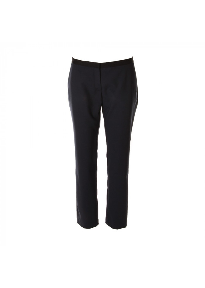 WOMEN'S CLOTHING TROUSERS BLUE SEMICOUTURE
