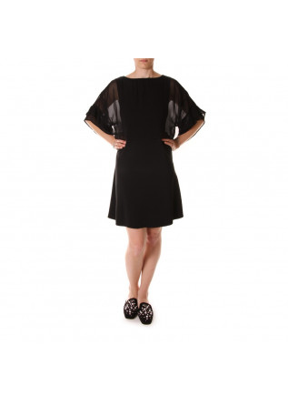 WOMEN'S CLOTHING DRESS BLACK VISCOSE JUCCA
