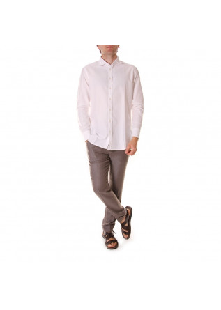 MEN'S CLOTHING SHIRT OXFORD WHITE BASTONCINO