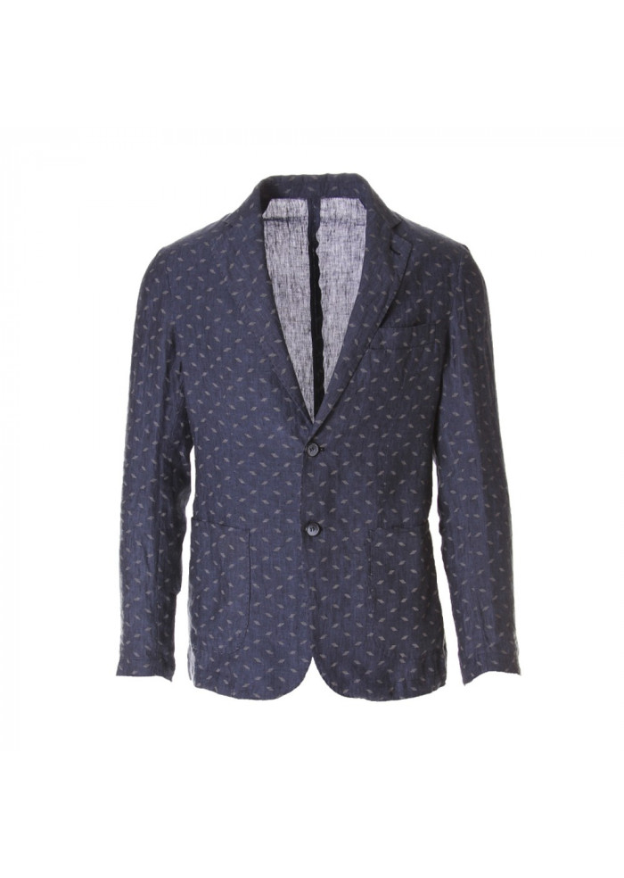 MEN'S CLOTHING JACKETS BLUE BASTONCINO