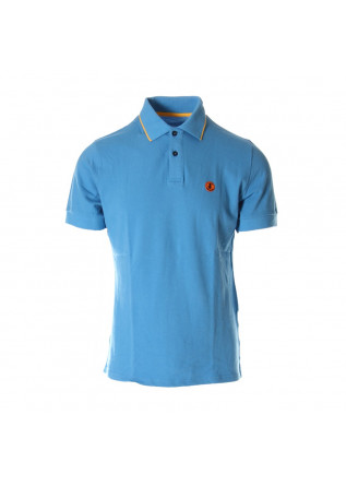 MEN'S CLOTHING POLOS BLUE SAVE THE DUCK