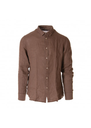 MEN'S CLOTHING SHIRT BROWN OFFICINA36