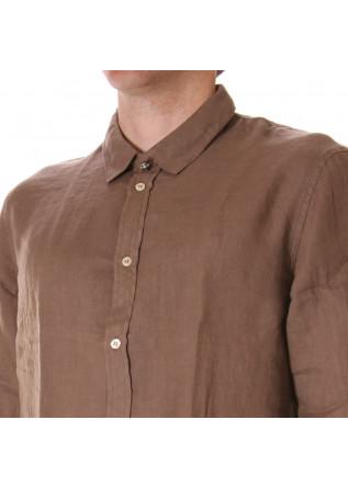 MEN'S CLOTHING SHIRT BROWN OFFICINA36