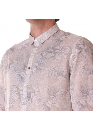 MEN'S CLOTHING SHIRT WHITE FLOWERS OFFICINA36