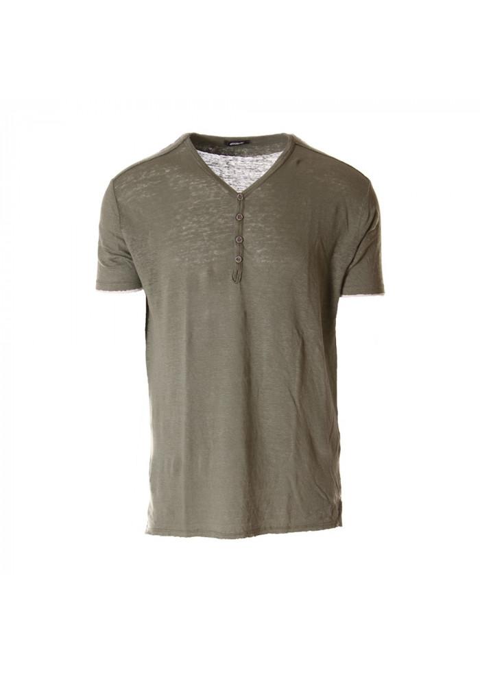 MEN'S CLOTHING T-SHIRTS GREEN OFFICINA36