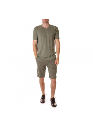 MEN'S CLOTHING T-SHIRTS GREEN OFFICINA36