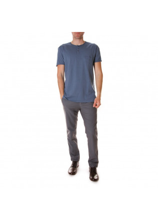 MEN'S CLOTHING T-SHIRTS COTTON BLUE DANIELE FIESOLI