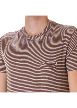 MEN'S CLOTHING T-SHIRTS WHITE BROWN DANIELE FIESOLI