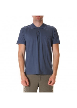 MEN'S CLOTHING POLOS CHEST POCKET BLUE DANIELE FIESOLI