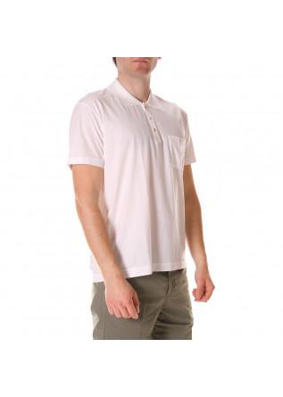 MEN'S CLOTHING POLOS WHITE COTTON DANIELE FIESOLI