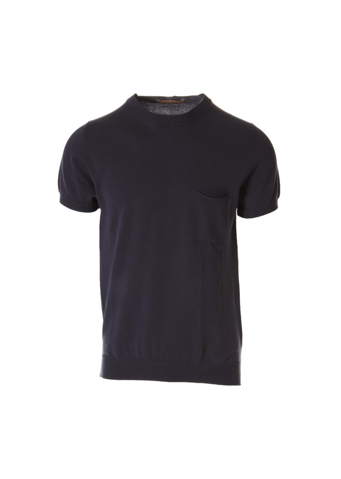 MEN'S CLOTHING T-SHIRTS BLUE DANIELE FIESOLI